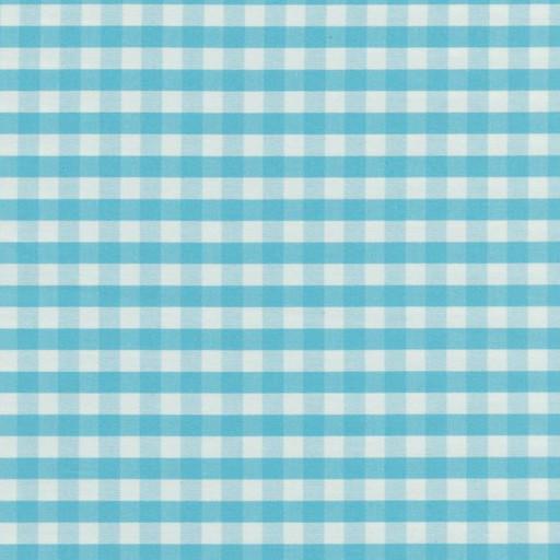 Gingham eko ruta blå